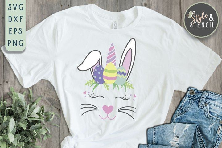 Easter Bunny Unicorn SVG - PNG, DXF, EPS, SVG, Cut File