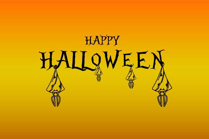 Illustration gradient background for happy halloween