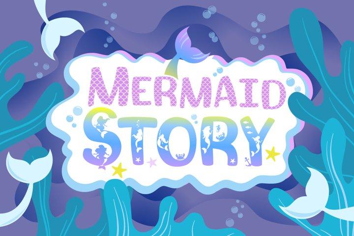 Mermaid Story & Mermaid Scales Font Duo | Mermaid Font - Free Font of The Week Font