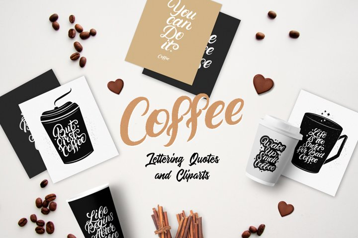 20 Hand Lettering Coffee Quotes