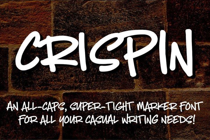 Crispin - handwritten marker font - Free Font of The Week Design5