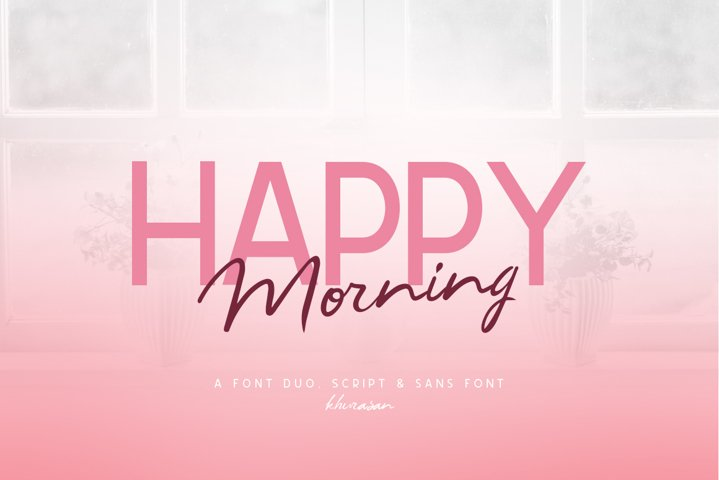 Happy Morning Font Duo