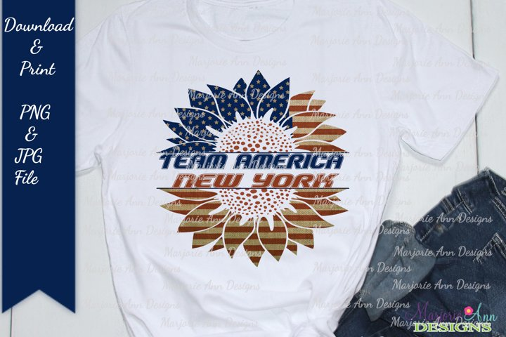 Team America-New York PNG Sublimation Designs For T Shirts