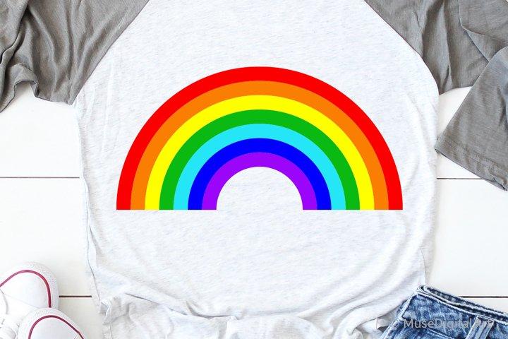 Rainbow Silhouette Svg, Rainbow Teacher Svg, School Rainbow