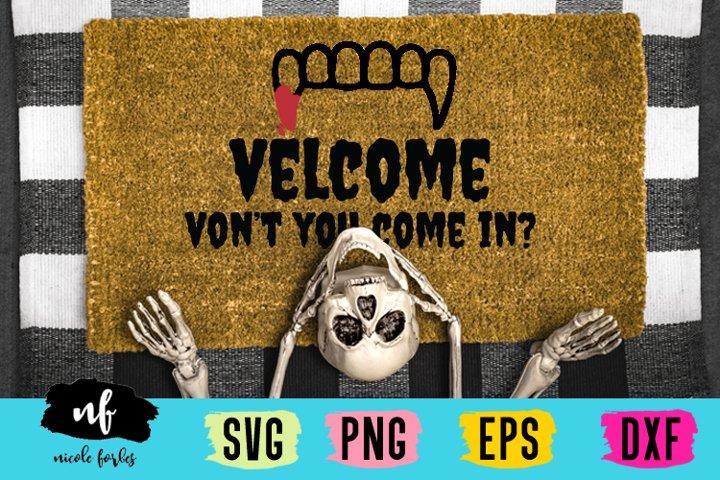 Halloween Welcome Mat SVG Cut File