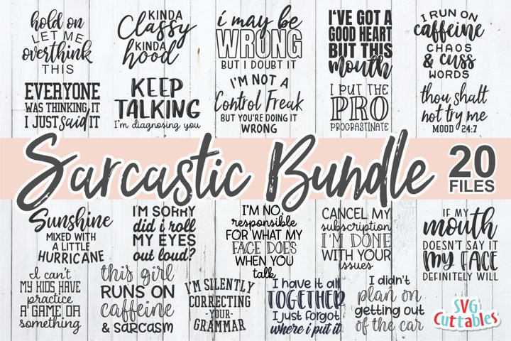 Sarcastic SVG Bundle | Funny SVG Cut Files