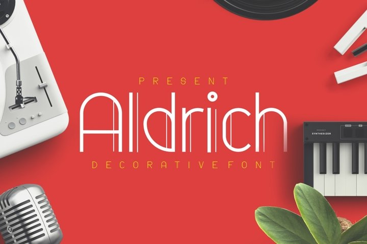 Aldrich - Decorative Display Font