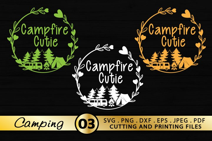 Campfire Bundle SVG PNG DXF EPS Files Campfire Cutie SVG
