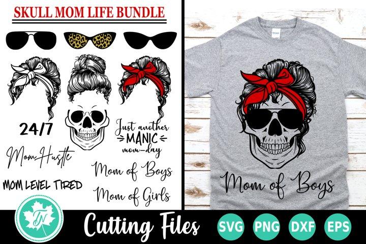 Skull Mom SVG | Mom LIfe SVG | SVG Bundle