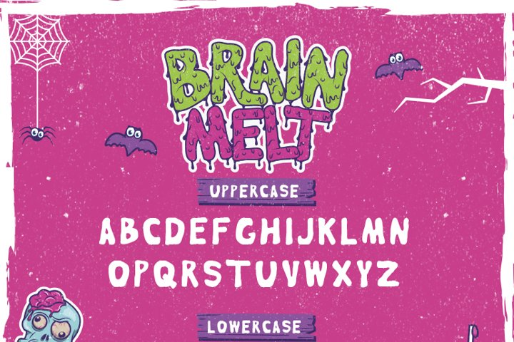 Brain Melt Layered Typeface - Free Font of The Week Design0