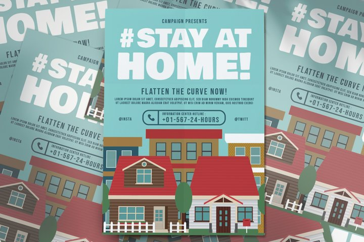 Stay At Home Capmaign Flyer