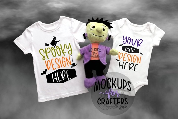Baby outfit, Childs T-Shirt, Halloween Mock-Up, FOG EFFECTS