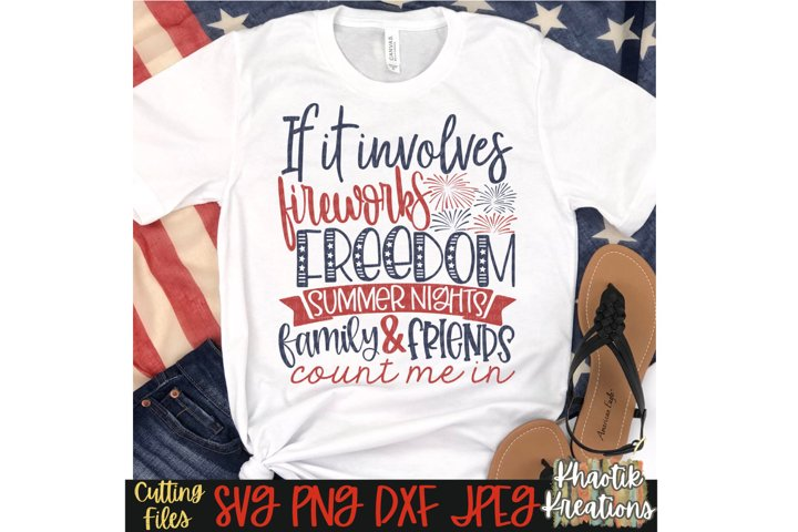 Fireworks and Freedom Svg, 4th of July Svg, USA Svg