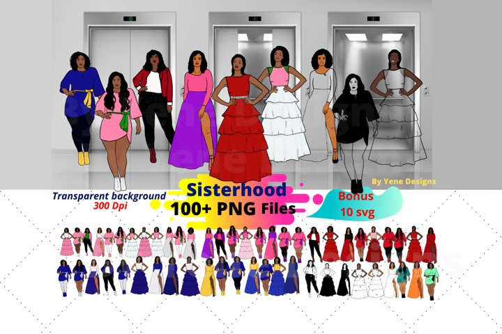 Sisterhood ,Afro lady Clip art, black girl, Afro clipart