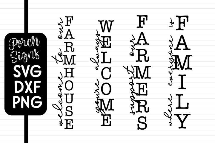 4 Porch Sign Quotes - Farmhouse Designs