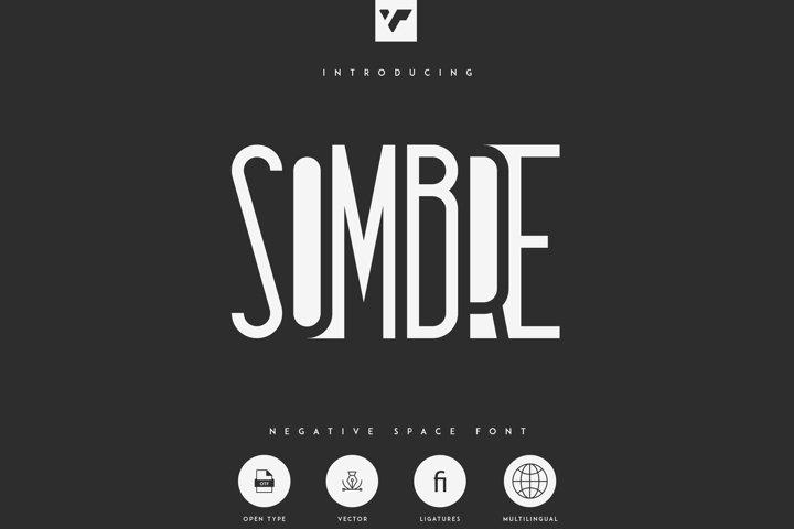 Sombre - Negative Space Font