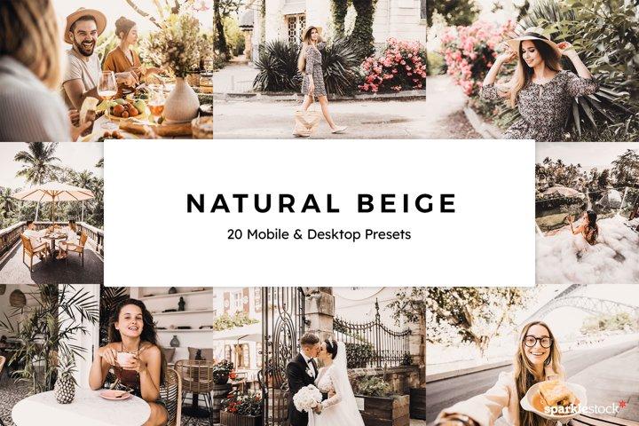 20 Natural Beige Lightroom Presets & LUTs