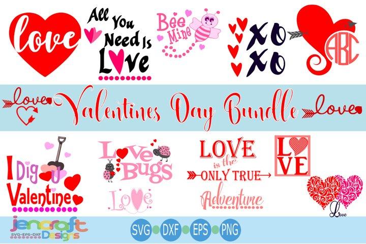 Valentine svg Heart Bundle - Valentines day svg, eps, dxf
