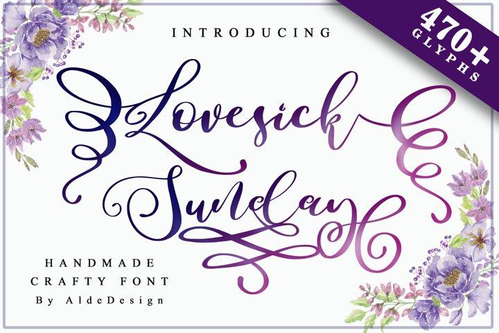 Lovesick Sunday - WEB FONT