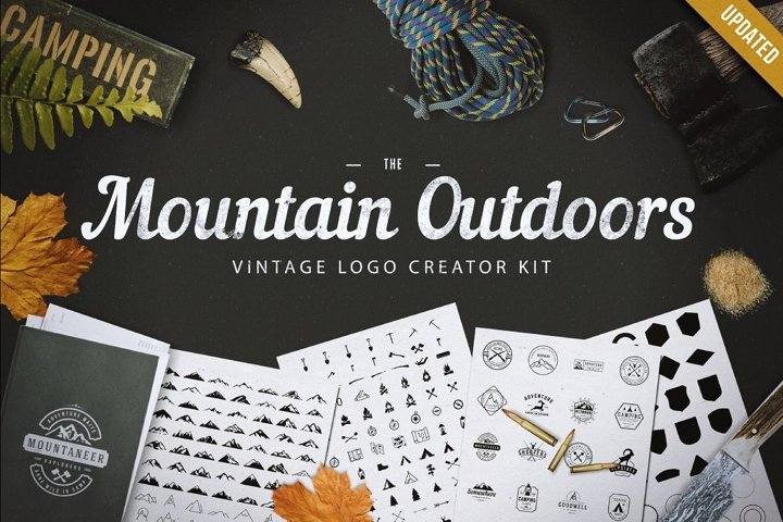 Mountain Logo Kit | Mountain Outdoor Vintage Logo Kit