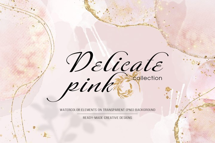 Delicate pink collection