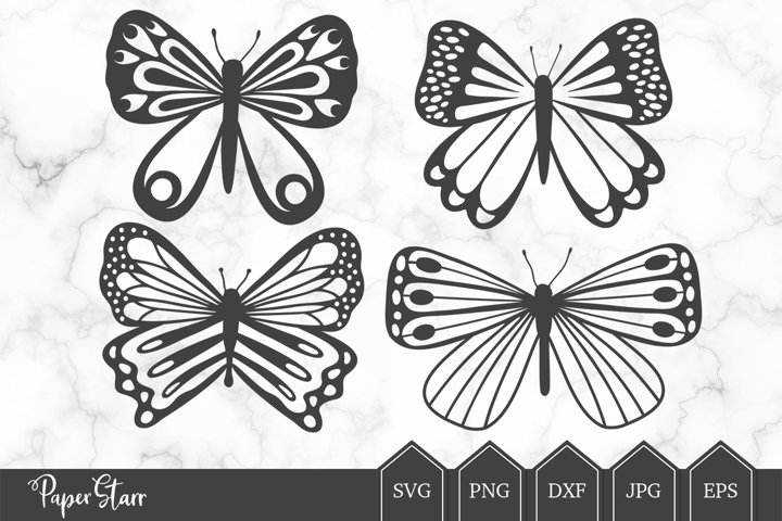 Butterfly SVG, Butterfly Cut File, Cut File Bundle
