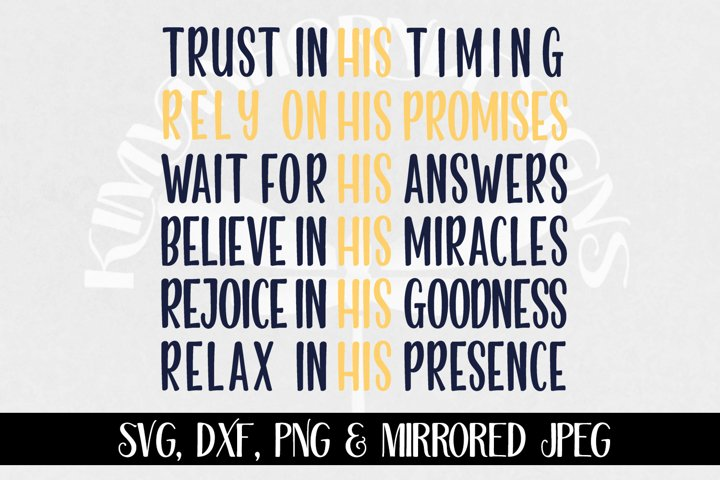 Rely On His Promises, Cross svg, dxf, png & jpeg