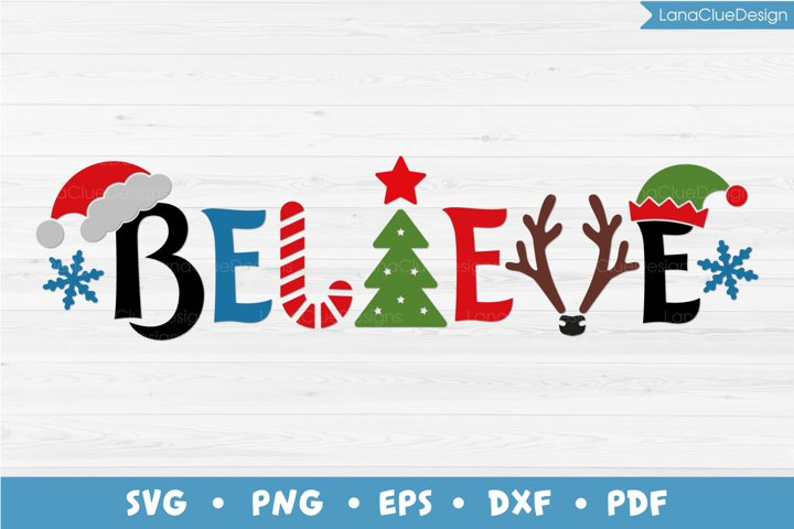 Believe Christmas SVG PNG DXF EPS PDF