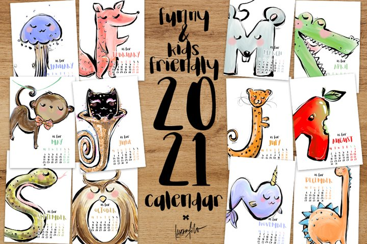 Childrens Calendar 2021