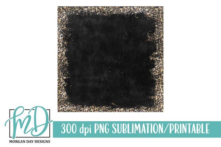 Grunge Leopard Chalkboard Background Printable Sublimation