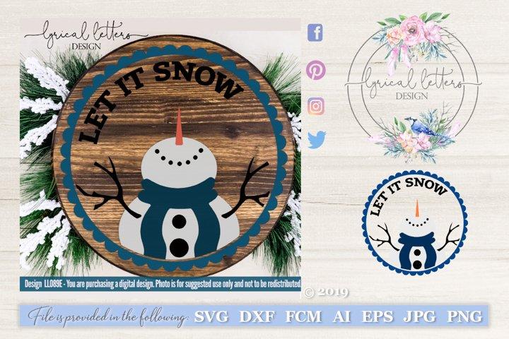 SALE! Let It Snow Snowman Ornament SVG Cut File LL089E example