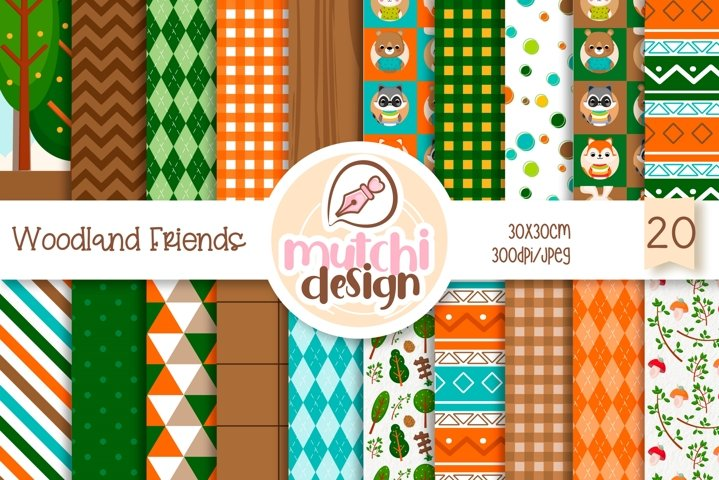 Woodland Friends Digital Papers