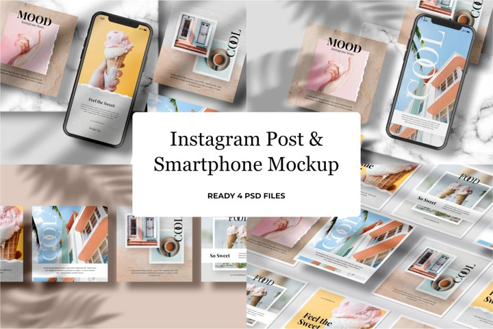 Instagram Post & Samrtphone Mockup v2