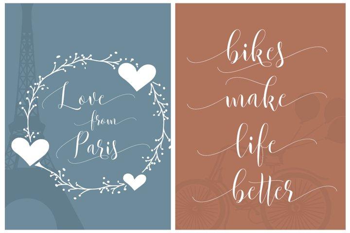 Beautylove Script - Free Font of The Week Design2