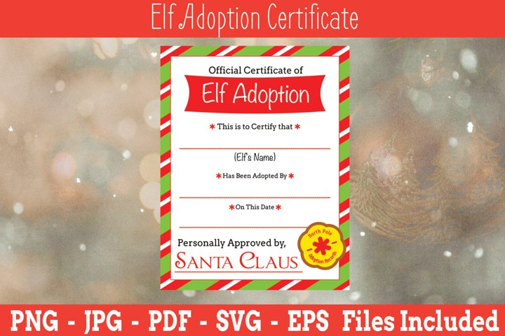 Elf Adoption Certificate| Elf Adoption | Elf SVG | Elf