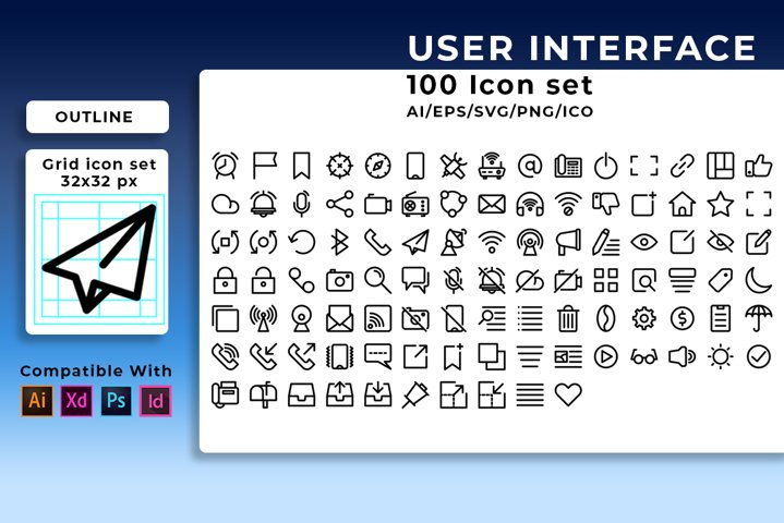 500 icon User Interface v.1 in 5 style