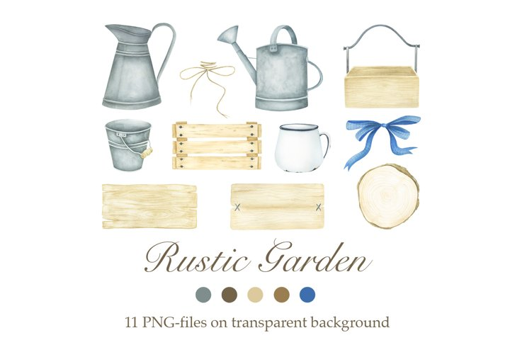 Watercolor Rustic Garden