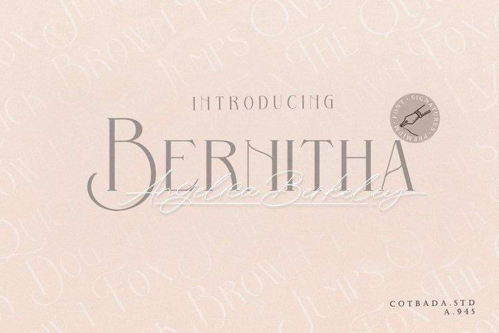 Bernitha Angelica Berkeley DUO FONT