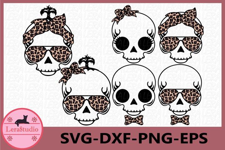 Baby Skull Svg, Skull with bandana svg, Boy and Girl Skull