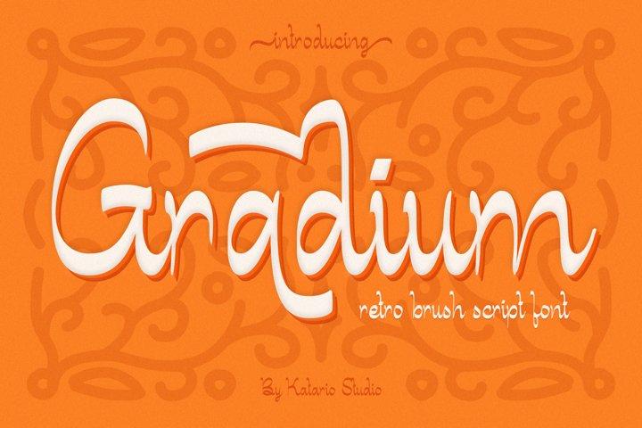 Gradium | Retro Vintage Brush Script Font