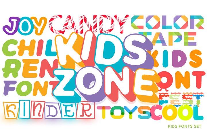 Kids Fonts Set