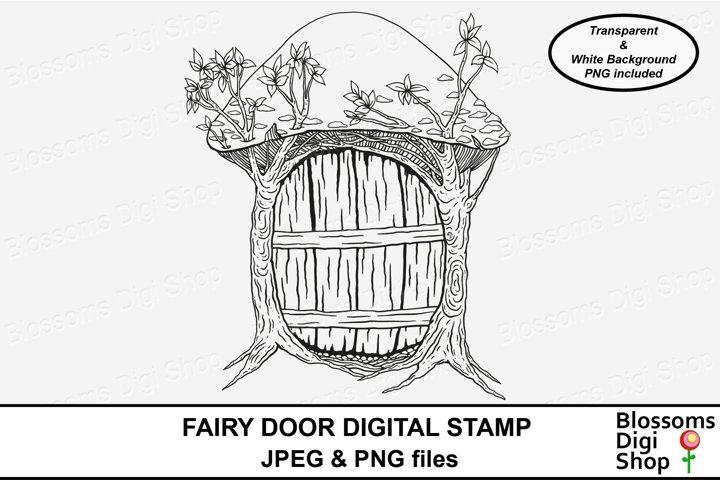 Fairy Door Digital Stamp