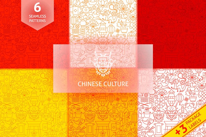 Chinese New Year Line Patterns