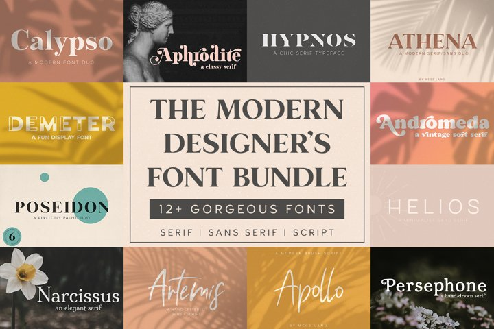 The Modern Designers Font Bundle