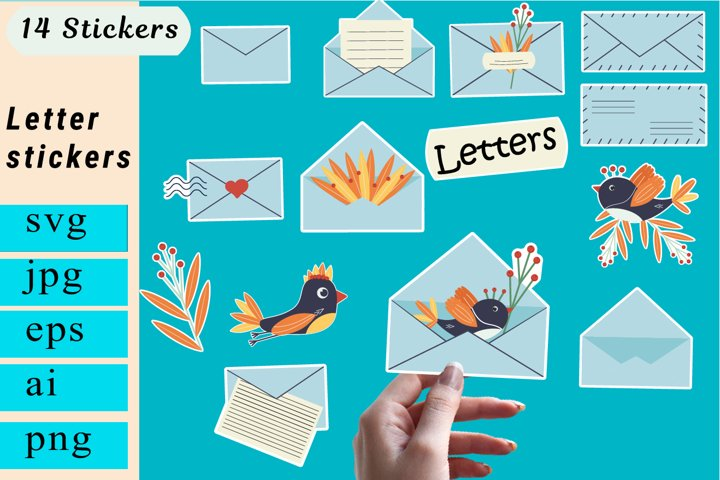 Stickers svg. Mail stickers. Planner Stickers.