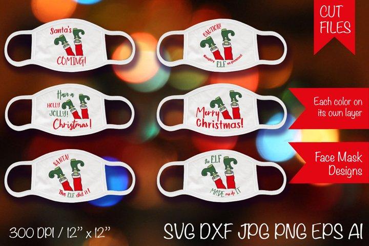 ELF masks SVG Cut Files. 6 Christmas Mask SVG. ELF Cut File