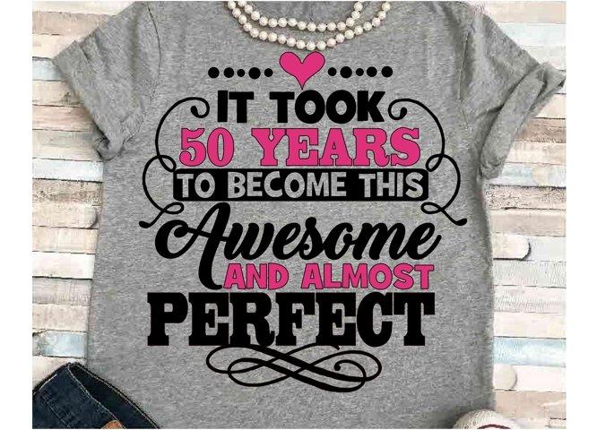 Birthday svg SVG DXF JPEG Silhouette Cameo Cricut birthday girl svg iron on 50th birthday svg