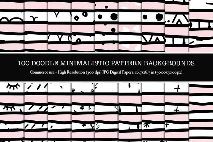 100 Doodle minimalistic fabric pattern backgrounds