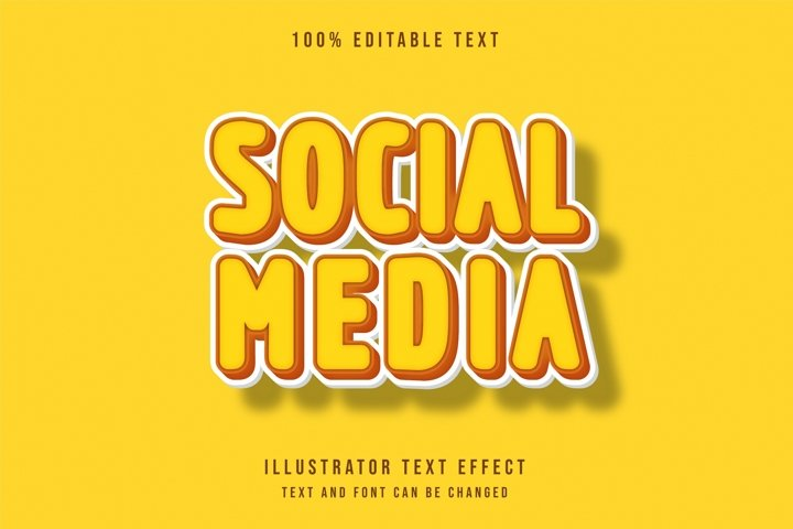 Social media - Text Effect
