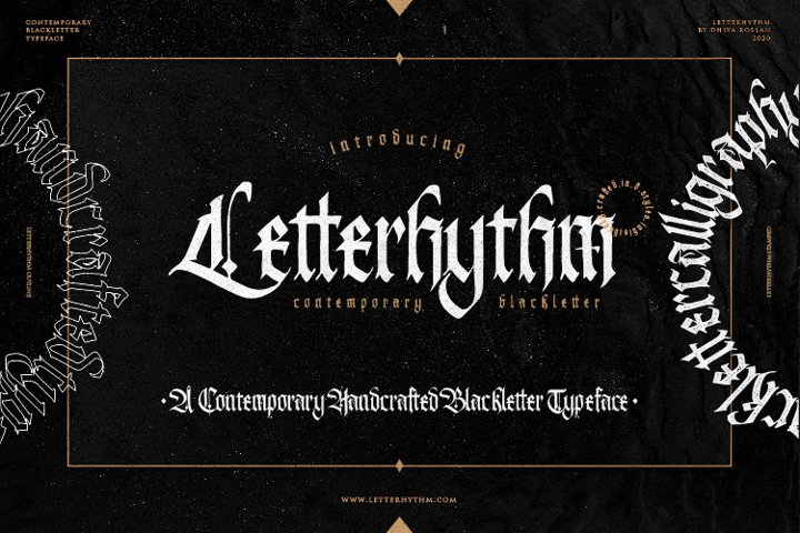 Letterhythm Contemporary Blackletter Typeface